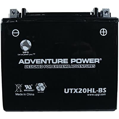 UPG 43033 - OEM YTX20HL-BS - Motorcycle Battery - Dry Charge AGM - 12 Volt - 18 Ah Capacity - D Terminal