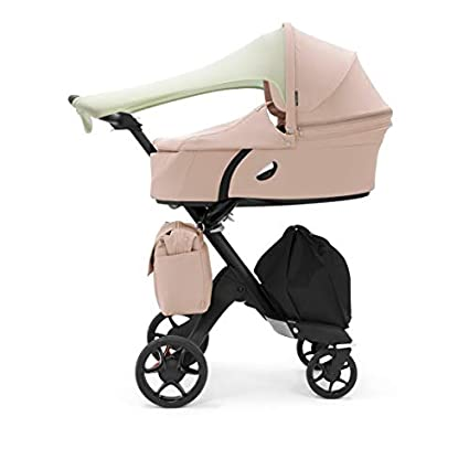 Stokke Xplory V6 Black Carry Cot Limited Edition Soothing Pink