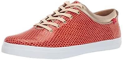 MARC JOSEPH NEW YORK Womens Leather Grand Bleecker Street Sneaker Loafer Coral Snake 5 M US