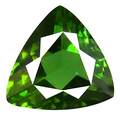 0.78 ct AAA Grade Trillion Shape (6 x 6 mm) Mozambique Green Tourmaline Genuine Loose ()