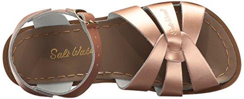 e25a3fd35 Salt Water Sandals by Hoy Shoe Girls  Salt Water Original Flat Sandal Rose  Gold 9