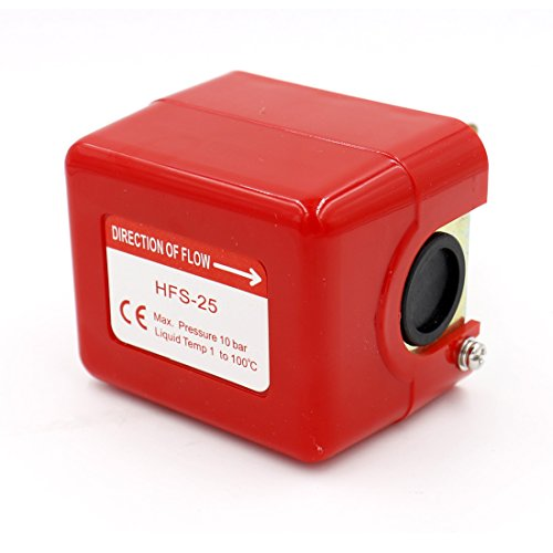 Baomain Paddle Flow Control Switch HFS-25 Red AC 250V 15A SPDT G1