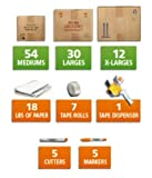 5 Bedroom/Office Moving Kit w/ 102 boxes- USEDCARDBOARDBOXES.COM