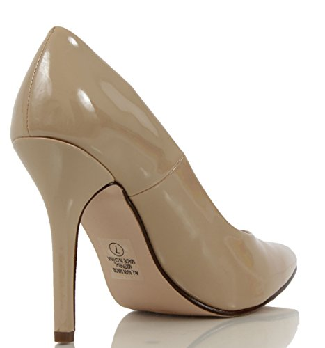 Delicious Womens Date Pointed Toe Single Sole High Heel, Dark Beige, 8 M US