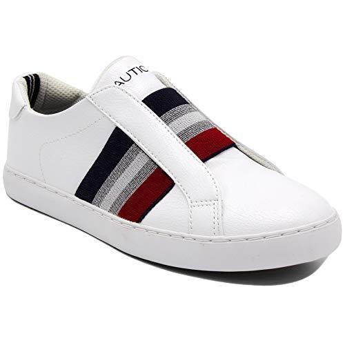 Nautica Bennet Women Slip - on Fashion Sneaker Casual Shoes -Bennet 2-White-6.5