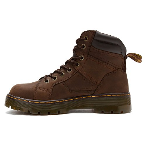 Duct Steel Men's Martens Toe Dark Brown Boot Toe Dr To Lace 8 Eye qHTxwZ