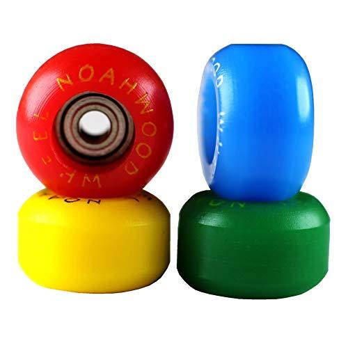 NOAHWOOD Fingerboards PRO Wheels(PRO Bearing 4Pcs/Set) (Red Yellow Blue Green 4 Color, II) ()