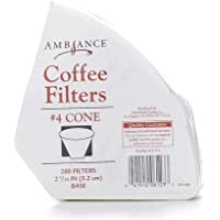 Ambiance Coffee Filters #4 Cone - 200 Filters