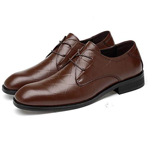 Formal de de Brown EU Tie Zapatos 46 Ocasional Jusheng tamaño Hombre Hebilla Negro Ocasional Metal Ocasional Oxford para Oxford Color 8XEXxUA