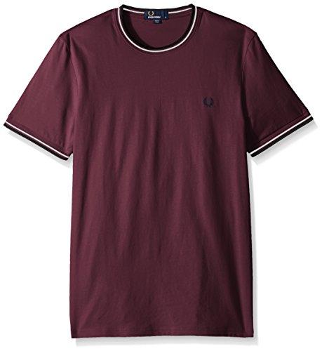 Uomo Girocollo Doppia Punta Perry Fred Ghiacciaio shirt T Mogano OXkuiZPT