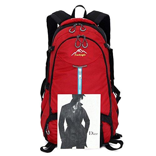 Mountaineering Bag Outdoor Männer und Frauen Schulter Rucksack Wanderpackage Bergsteigen Taschen , rose red