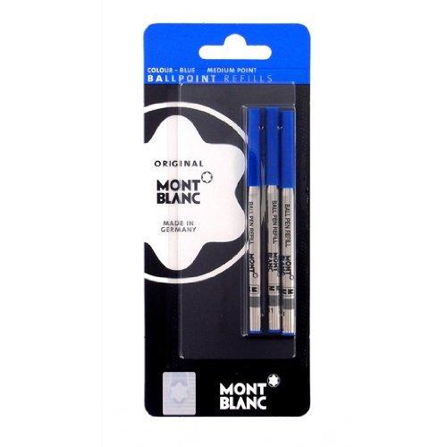 mont-blanc-set-of-3-ballpoint-refill-medium-blue