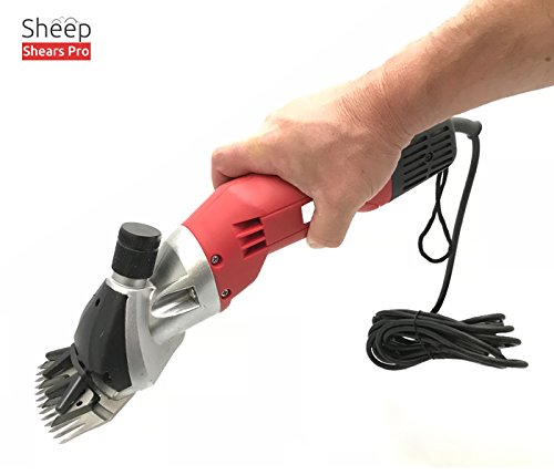 Sheep Shears Pro 110V 500W Professional Heavy Duty Electric Shearing Clippers with 6 Speed, for Shaving Fur Wool in Sheep, Goats, Cattle, and Other Farm Livestock Pet, with Grooming Carrying Case CE by Sheep Shears Pro (Image #3)