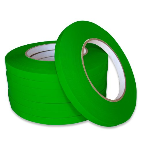 Bag Closer seal tape 3/8'' x 180 Yards (10 Rolls) (Green) by Technopack Corporation