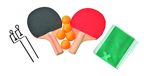 "Table Tennis Travel 10 Piece Set Includes 2 Paddles 5 Ping Pong Balls Net Posts And Net Fits Tables Up To 48"" Wide Ideas In Life"