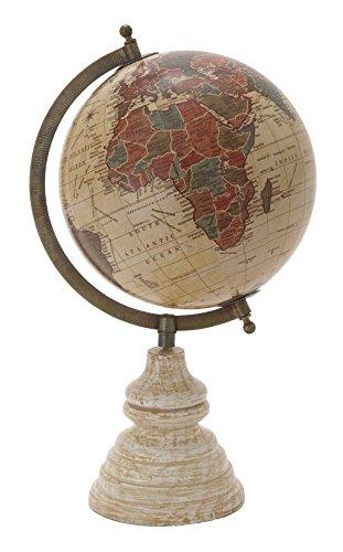 - Deco 79 24495 Metal Wood PVC Globe