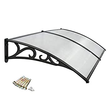 Image of akasaw98 40 x 80 inch Canopy Awning Patio Window Front Door UV Protection Rain Cover Home and Kitchen
