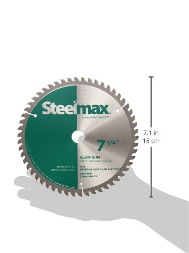 Steelmax 7 1//4 TCT Blade for Aluminum