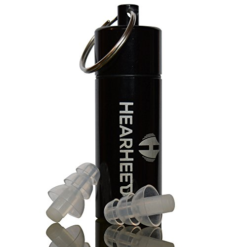 Hearheed High Fidelity Ear Plugs Noise Reduction - Safety Construction Sound Insulation Earplugs - Travel Noise Cancelling Ear Plugs For Sleeping And Snoring - Reusable Hearing Protection Earplugs