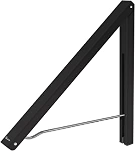 Anjuer Laundry Room Clothes Rack - Wall Mounted Retractable Folding Clothes Hanger Drying Rack for Laundry Room Closet Storage Organization, Aluminum, Easy Installation (Black)