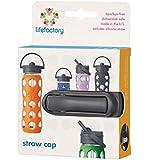 Lifefactory Straw Cap for 22oz/16oz/12oz Bottles, Carbon