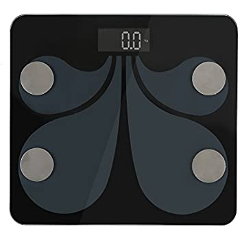 Bluetooth Body Weight Scale , SIEGES Digital Body Fat Scale with IOS and Android App to Manage Body Fat ,BMI, Muscle Mass, Water Weight, and Bone Mass,Smart Body Composition Analyzer, KG in Read.
