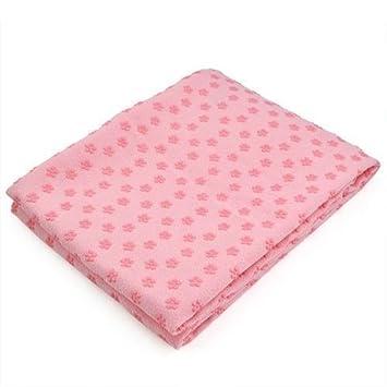 Yoga toallas Ultra suave microfibra antideslizante PVC lunares de flores toalla de Yoga Mat, Rosa: Amazon.es: Deportes y aire libre