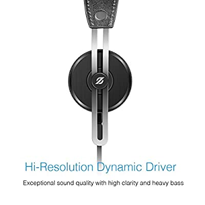 On-Ear Headphones, Hi-Res Headsets with Mic by 01 Audio Tango Stereo Sound- Made for Android Cell Phones, Samsung, iPhone 6, 6 Plus, 5, 5s, 4, iPad