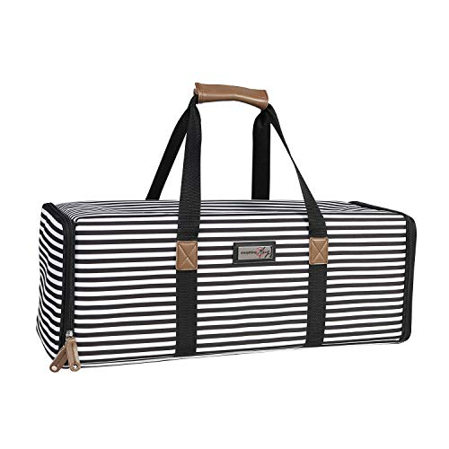 Craft Bag Compatible with Cricut Air//Maker /& Brother ScanNCut DX Cutting Machine Storage for Vinyl Everything Mary Black /& White Stripes Collapsible Die-Cutting Machine Carrying Case