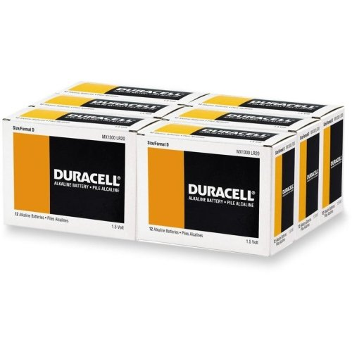 Duracell MN1300 Alkaline Manganese D Size General Purpose Battery - 18000 mAh - D - Alkaline Manganese - 1.5 V DC by Duracell