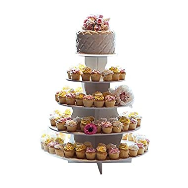 The Smart Baker® 5 Tier Round Cupcake Stand Holds 90+ Cupcakes  As Seen on Shark Tank