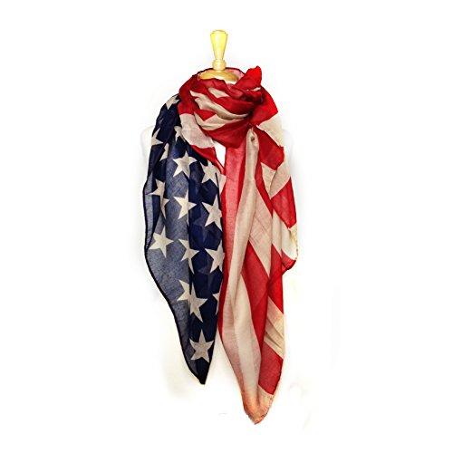 Paskmlna Patriotic American Lightweight Scarf