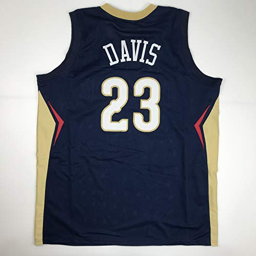 (Unsigned Anthony Davis New Orleans Blue Custom Stitched Basketball Jersey Size Men's XL New No Brands/Logos )
