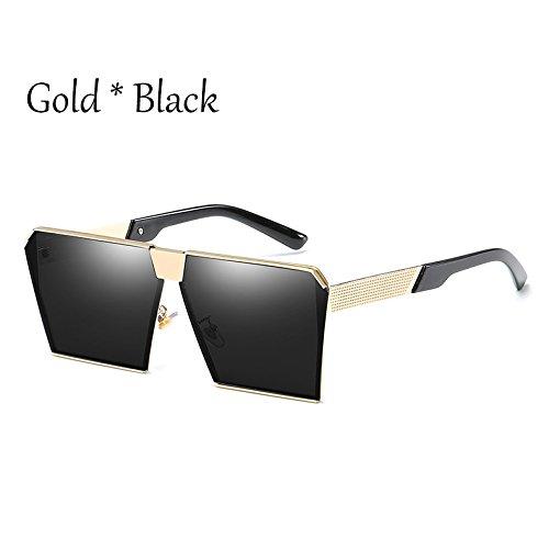 Estilos Gafas Silver C16 Tonos G Damas Unas Sol Hombre Gray 17 Cuadradas De De Vintage Enormes Uv356 Mujer Gafas C2 TIANLIANG04 Gold Sol Silver FwfO8qp