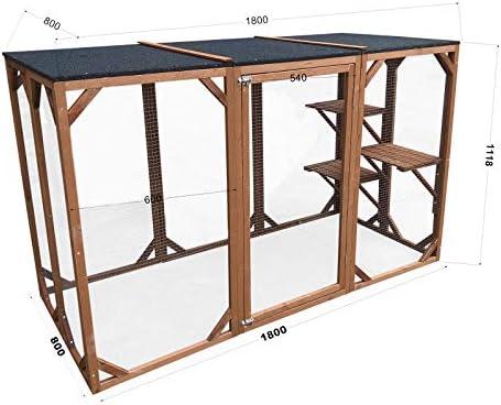 WilTec Recinto Exterior Gatos 3 Plataformas Gatera Accesorios Exterior Gatos Cabaña Mascotas Corralito: Amazon.es: Productos para mascotas