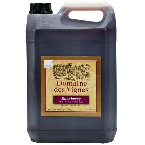 Raspberry Red Wine Vinegar - 1 jug - 5 Liters by Domaine des Vignes