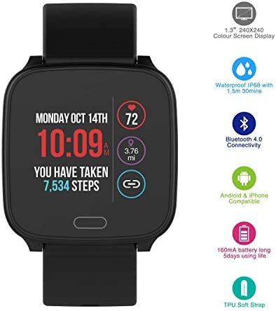 iConnect By Timex Active Smartwatch with Heart Rate, Notifications and Activity Tracking 41oQbUBg9eL