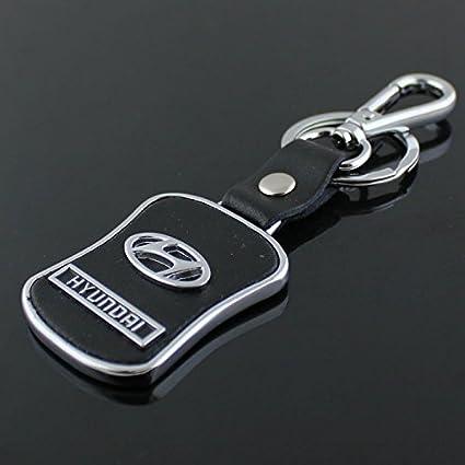 Amazon Hyundai Emblem Keychain Keyring Logo Fashion Leather