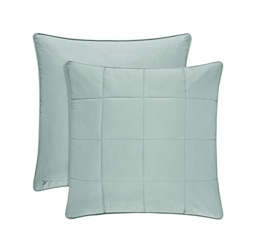 (Five Queens Court Clayton 100% Brushed Cotton Euro Pillow Sham, Aqua )