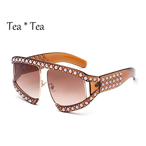 solar de gradiente enormes C11 gafas tonos sol señoras Sunglasses mujer Protección UV G139 sol Unas de gafas C13 TL HfpqOS