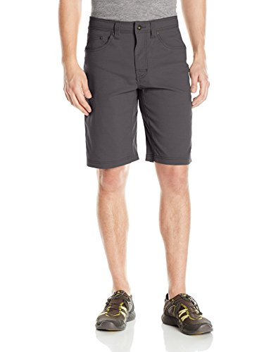 prAna Men's Brion Inseam Shorts, Charcoal, Size 33