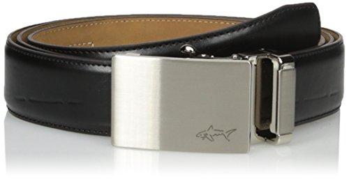 Adjustable Golf Belt - Greg Norman Men's Optimum Comfort Fit Adjustable Ratchet Belt, black, One Size