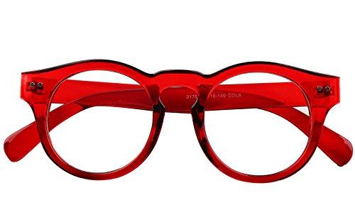810a6a17fc Beison Horn Rimmed Round Eyeglasses Frame Clear Lens 46mm ...