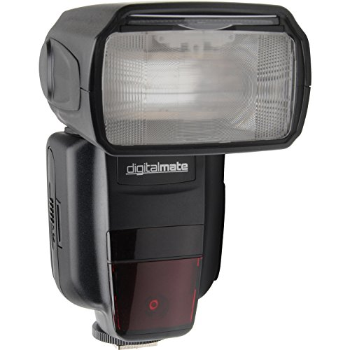 Digitalmate DM680EX SpeedLight Power Zoom 18-180mm Super High TTL Flash with Dual Slave Mode, Bounce and Diffuser Dedicated for Canon DSLR Digital Cameras by DigitalMate