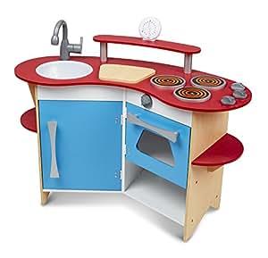 Melissa & Doug Cook's Corner Wooden Kitchen Play Set