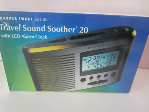 Sharper Image Portable Travel Sound Soother 20 with LCD Alarm Clock + Thermometer (SI601) ()