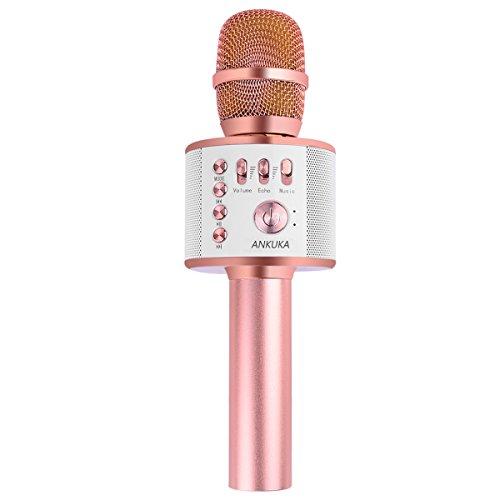Ankuka Wireless Karaoke Microphone, 4 in 1 Handheld Portable Bluetooth...