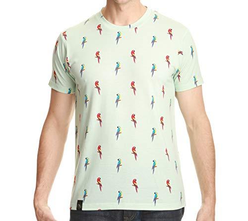 Brooklyn Standard Men's Ultra Soft All Over Print T-Shirt Parrots Small ()
