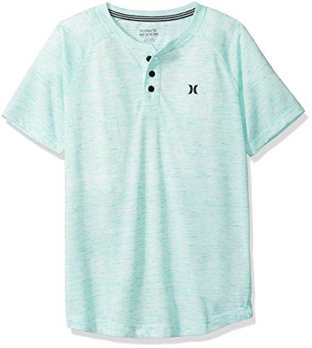 Green Glow 5 (Hurley Boys' Little Henley T-Shirt, Green Glow,)