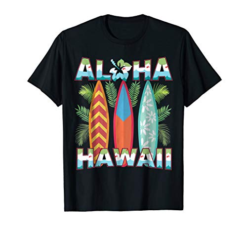 Artsy Hawaii Aloha State T-Shirt Summer Hawaiian Islands Tee